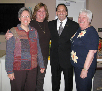 Jim Pinto with Atlanta MEV: Sybil Lancour, Sheila Palazzo and Judy Waldrop