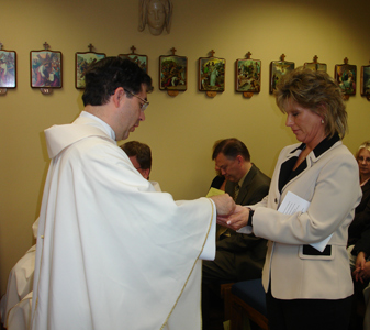 Margaret receives the MEV pin