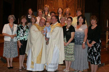 Fr. Victor Salomon and Fr. Paul Schenck with the newly professed