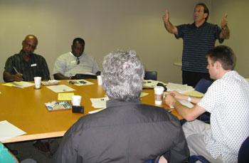 Jim leading final week meeting with leadership team.