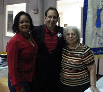 Jim Pinto with members of the Charismatic Servant Team, Left- Jacqueline Smoke and Right-Dolores Hicks.