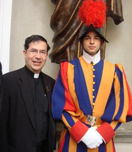 Fr. Frank & Swiss Guard