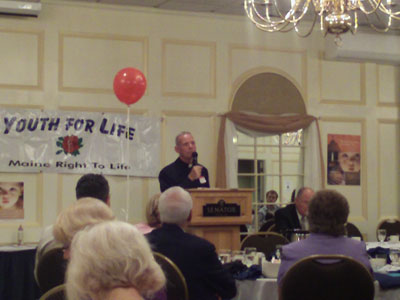 Fr. Wilde spoke at a Maine Right to Life banquet