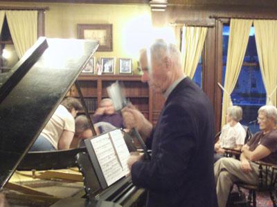 Fr. Denis peformed a piano concert for life