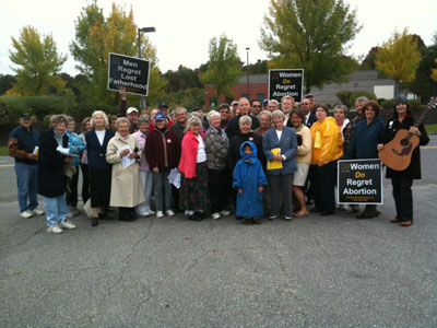 Fr. Wilde led a 40 Days for life kickoff rally at an Augusta abortion mill, Sun 9/26/2010