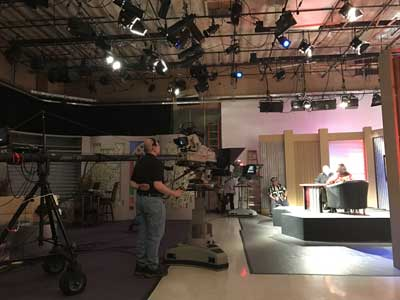 Action in the EWTN studios this morning for the taping of Defending Life, created by Priests for Life.