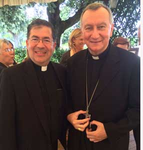 Fr. Frank with the Vatican's Secretary of State, Cardinal Parolin, last week in Rome.