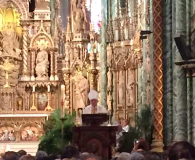 Cardinal Thomas Collins, Archbishop of Toronto preaching Homily at Pro-life Mass