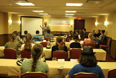 Bryan Kemper of Stand True gave a presentation to the teens.