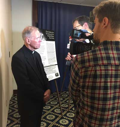 Father Frank is interviewed by Paul Strand of the Christian Broadcasting Network.