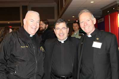 From left to right: Deacon Tim Kennedy, Fr. Frank Pavone and Fr. Denis Wilde, OSA