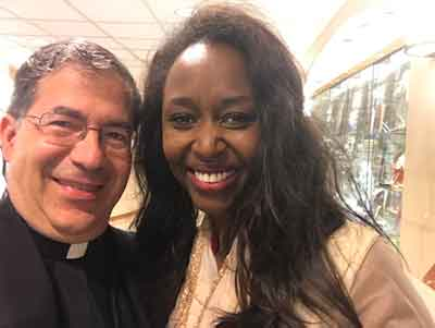 Immaculee Ilibagiza also was at the Basilica with me on October 9.