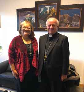 Alveda with Archbishop Vincenzo Paglia, President of the Pontifical Academy for Life