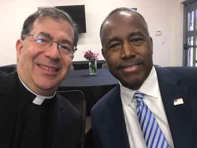 <p>Fr. Frank with Secretary Ben Carson today in Atlanta where they are both speaking at the Martin Luther King National Commemorative Service</p>