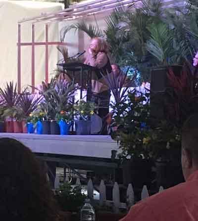 Alveda speaking at the prayer breakfast.