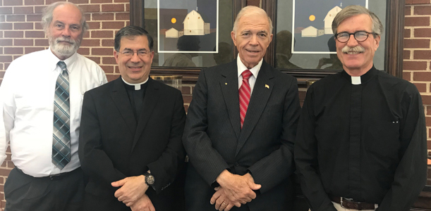 Fr. Frank with members of the National Pro-Life Religious Council. (L.to R.) Reverend John Brown, a pastor in Pennsylvan