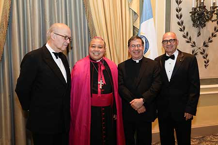 Award Recipient, Executive President of Aid to the Church in Need, Mr. Thomas Heine-Geldern and Archbishop Auza