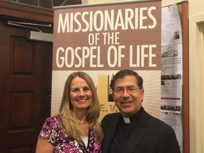 Barbara Weir with Fr. Frank