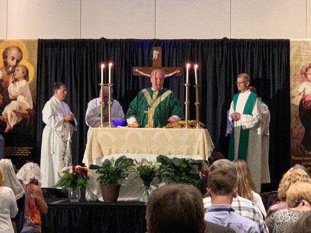 Fr. Frank concelebrated Mass at the conference.