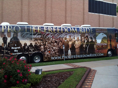 The Pro Life Freedom Rides bus ready to go...