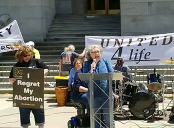 Nancy Belzile, Regional Coordinator in Northern NY, shared her testimony of abortion regret and healing at the New York