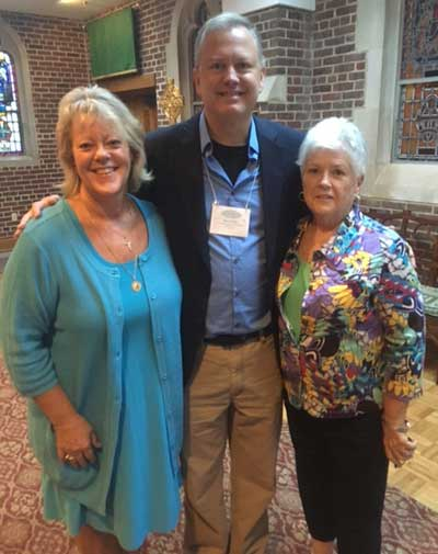 Leslie and Kevin with Maggie Disney, Director, Virginia Society for Life (VSHL) and St. Bridget Parishioner