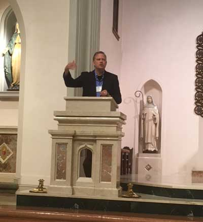 Kevin Burke speaking at the conference