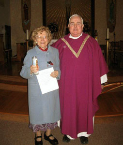 Alice Broscius and Fr. John Paul