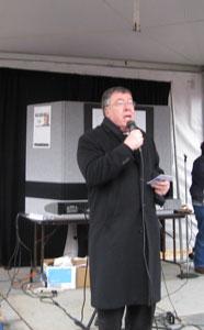 The Most Rev. Robert J. Baker. STD, Bishop of the Diocese of Birmingham, leads prayer