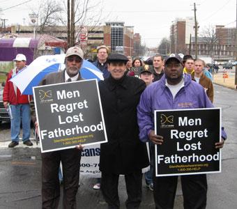 Men Regret Lost Fatherhood: Bishop Demetrius Roscoe, Living Church Ministries of Birmingham,  Jim Pinto, MEV and Mr. Bells