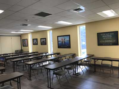 Partial view of the Saint Michael Training Room