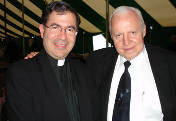 Fr. Frank with Jerry Koniker, founder of the Apostolate for Family Consecration which sponsors the Catholic FamilyLand Conference