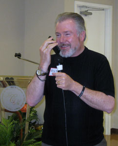 Jerry Horn, Sr. Advisior and Media Coordinator: Priests for Life, not only shared at the luncheon but had Dr. Alveda Kin