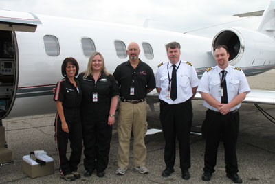 The medical crew that took care of Baby Jospeh on his flight.