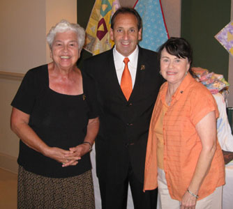 Giselle Dyer, MEV  and Sandra Tomasella (Good Shepherd Pro-life Committee)