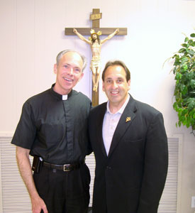 Fr. Michael Deering, Pastor: St. Elizabeth Ann Seton, Gardendale AL. and Vicar General, Diocese of Birmingham, AL. with Jim Pinto, MEV