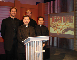Fr. Giacomo and Fr. Clarke  with Fr. Frank Pavone MEV and Fr. Jim Heyd