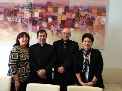 Fr. Frank, Janet and Teresa with Bishop Carrasco de Paula, President of the Pontifical Academy for Life