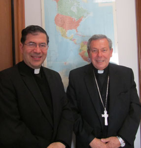 Fr. Frank with Archbishop José Octavio Ruiz Arenas, Vice-President of the Pontifical Commission for Latin America