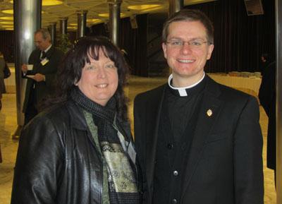 Janet Morana with Seminarian, Simon Carian