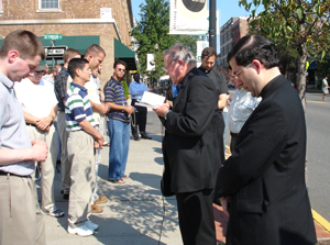 Praying in front of an abortion mill in Newark, NJ.