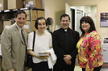 From Left to Right: Thomas McKenna, founder of the St. Gianna Physician's Guild, Dr. Gianna Emanuela Molla, Fr. Frank and Janet Morana