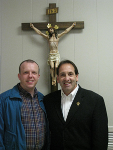 Jim Pinto with recent convert and attendee: David Shener
