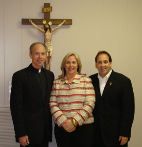 Pastor Michael Deering with Jim and Joy Pinto