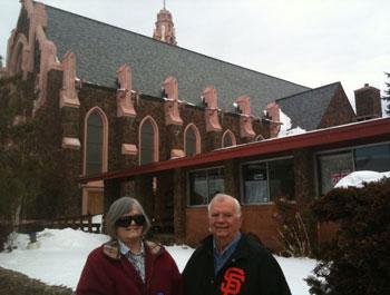 At St Mary's Church, Flagstaff AZ. Before Children's school 830 Mass.