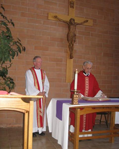 Fr Denis Wilde concelebrates and preaches eveing Mass at University of Northern Arizona, Flagstaff, Tuesday Feb 23.