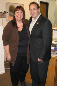 Jim Pinto tours Living Help Center with Director, Anne Bayer