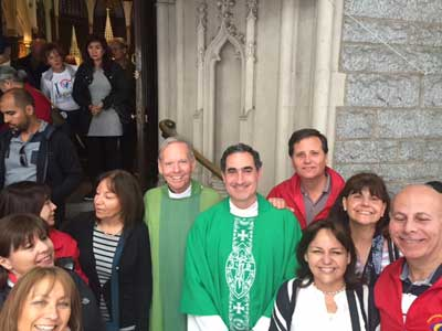 On Sunday, September 27, Fr. Denis played piano preludes and gave the homily at St. John the Evangelist Church in Philad
