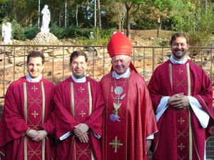 Fr. Giacomo Capoverdi, Fr. Frank Pavone MEV, Bishop John Yanta and Fr. Mark Clarke, CMF