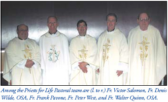 Fr. Frank with Pastoral Team Priests